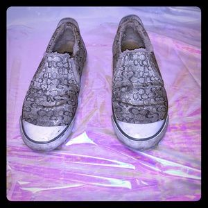 Coach slip-on shoes, shearling lining 7.5